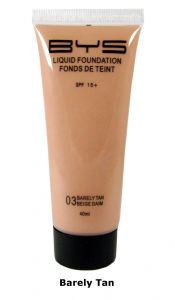 <b>BYS Liquid Foundation with SPF15 - Barely Tan</b>